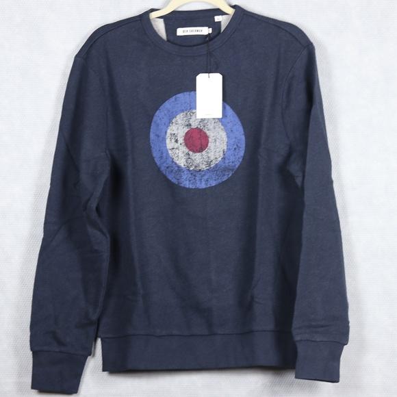 4807149d0 Ben Sherman Sweaters | Navy Blue Vintage Look Target Print Sweater ...
